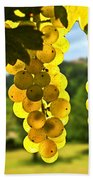 Yellow Grapes Beach Towel