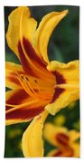Yellow Tiger Lily Beach Towel