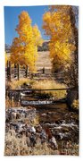 Yellowstone Institute In Lamar Valley In Yellowstone National Park Beach Towel