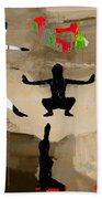 Yoga Poses Beach Towel