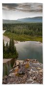 Yukon Canada Taiga Wilderness And Mcquesten River Beach Towel