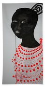 Dinka Bride - South Sudan Beach Towel