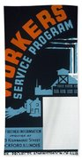 New Deal Wpa Poster Beach Towel