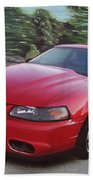 2001 Ford Mustang Cobra Beach Towel