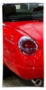 2002 Red Ford Thunderbird-rear Left Beach Towel
