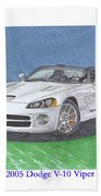 2005 Dodge V-10 Viper Beach Towel
