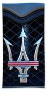 2005 Maserati Gt Coupe Corsa Emblem Beach Towel
