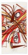 2010 Abstract Drawing 23 Beach Towel