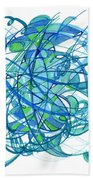 2010 Abstract Drawing 30 Beach Towel