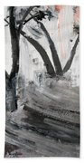 2013 058 Tree And Ladder Alexandria Virginia Silver Black White Red Beach Towel