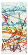 2013 Abstract Drawing #7 Beach Towel