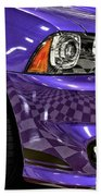 2013 Dodge Charger Headlight Beach Towel