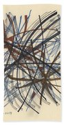 2014 Abstract Drawing #8 Beach Towel
