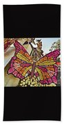 2015 Rose Parade Float With Butterflies 15rp043 Beach Towel