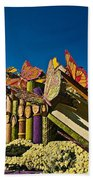 2015 Rose Parade Float With Butterflies 15rp044 Beach Towel