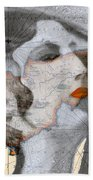 Ancient Cyprus Map And Aphrodite Beach Towel