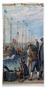 Boston Tea Party, 1773 Beach Towel