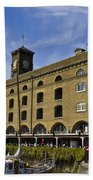 St Katherines Dock London Beach Towel