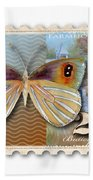 24 Cent Butterfly Stamp Beach Towel