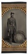 Civil War Soldier, C1863 Beach Towel