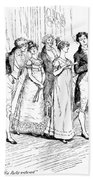 Scene From Pride And Prejudice By Jane Austen Beach Towel