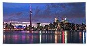 Toronto Skyline Beach Sheet