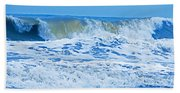 Hurricane Storm Waves Beach Towel