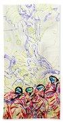 Wise Virgins Beach Towel by Gloria Ssali