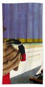 Dachshund Art Canvas Print Beach Towel