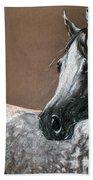 Arabian Horse Beach Towel by Angel  Tarantella