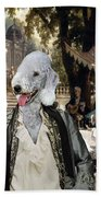 Bedlington Terrier Art Canvas Print Beach Towel