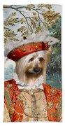 Silky Terrier Art Canvas Print Beach Towel