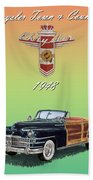 1948 Chrysler Town And Country Beach Towel
