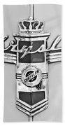1948 Chrysler Town And Country Sedan Emblem Beach Towel