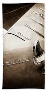 1955 Chevrolet Nomad Wagon Taillight Emblem Beach Towel