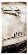 1956 Mercury Monterey Hood Ornament - Emblem Beach Towel