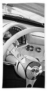 1957 Chevrolet Corvette Steering Wheel Emblem Beach Towel