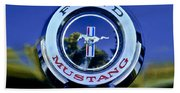 1965 Shelby Prototype Ford Mustang Emblem Beach Towel