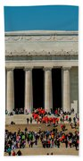 Abraham Lincoln Memorial In Washington Dc Usa Beach Towel