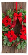 Advent Wreath With Winter Rose Beach Towel
