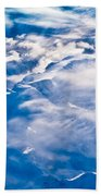 Aerial View Of Snowcapped Peaks In Bc Canada Beach Towel