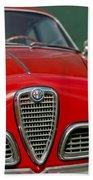 Alfa Romeo Grille Emblem Beach Towel