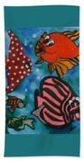 Art Fish Beach Towel