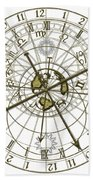 Astronomical Clock Beach Towel