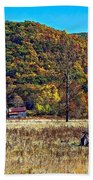 Autumn Farm Beach Towel