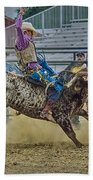 Bareback Bronc Riding Beach Towel