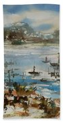Bay Scene Beach Towel