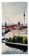 Berlin Germany View On Major Landmarks Beach Sheet