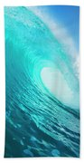 Blue Ocean Wave Beach Towel