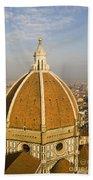 Brunelleschi's Dome At The Basilica Di Santa Maria Del Fiore Beach Towel